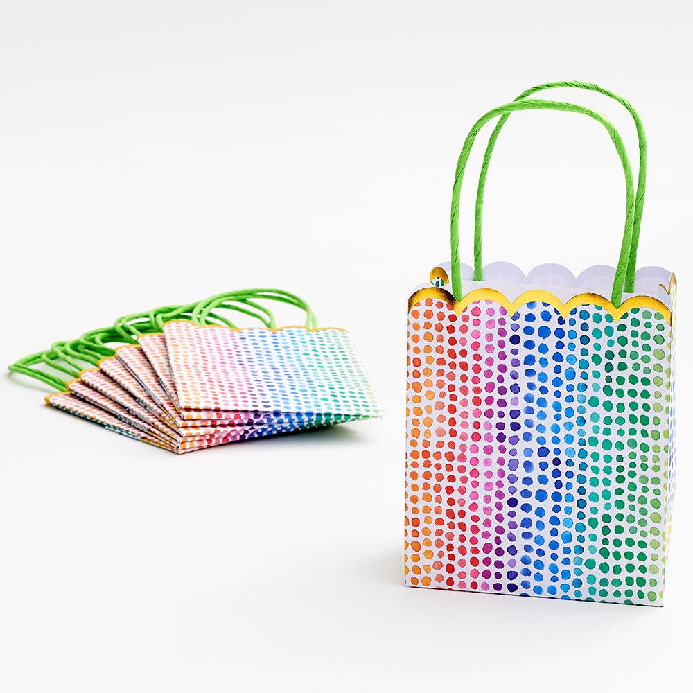 Watercolor Rainbow Dot Favor