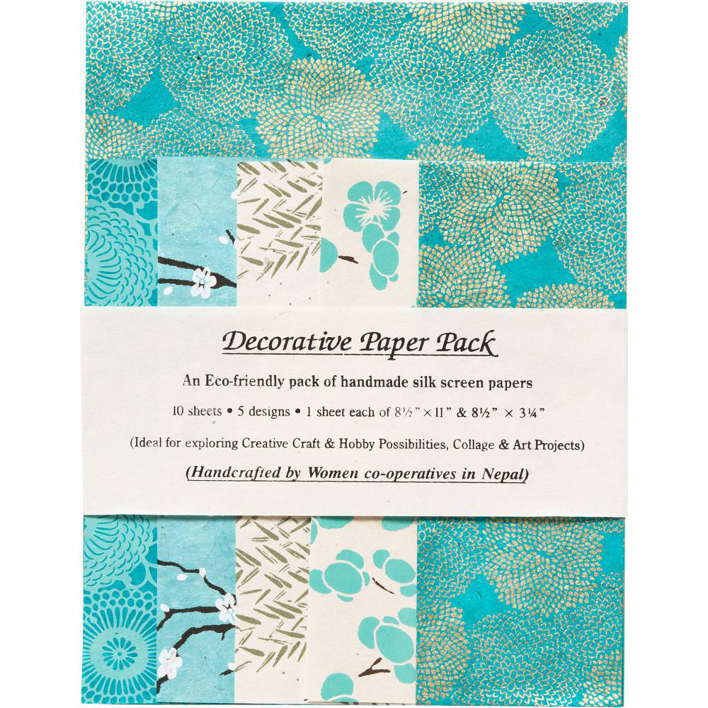 Sea Green Lokta Papers Pack