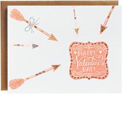 Happy Valentine's Day Arrow Card
