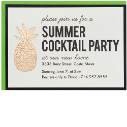 DIY Pineapple Cocktail Party Invitation