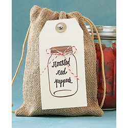 Burlap Treat Bag and Hang Tag
